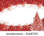 christmas tree and snowflakes... | Shutterstock . vector #5268745