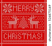 Embroidery Christmas Card With...
