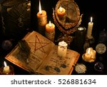 still life with old book ... | Shutterstock . vector #526881634