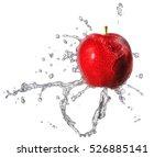 water splash and fruits... | Shutterstock . vector #526885141