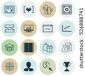set of 16 universal editable... | Shutterstock .eps vector #526888741