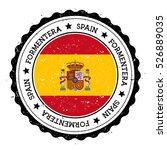 formentera flag badge. grunge... | Shutterstock .eps vector #526889035