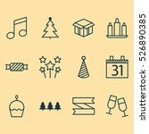 set of 12 christmas icons. can...