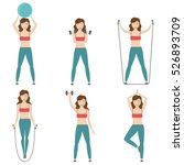 fitness  aerobic and workout... | Shutterstock .eps vector #526893709