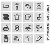 vector line bathroom icons set... | Shutterstock .eps vector #526893835