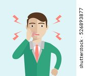 man with toothache vector flat... | Shutterstock .eps vector #526893877