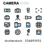 vector flat camera icons set on ... | Shutterstock .eps vector #526893931