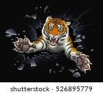 Tiger Jumping Through Glass