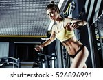 young fitness woman execute... | Shutterstock . vector #526896991
