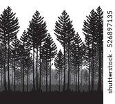 vector pine forest landscape....   Shutterstock .eps vector #526897135