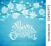 merry christmas card with... | Shutterstock .eps vector #526901971