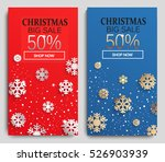 christmas sale banners set.... | Shutterstock .eps vector #526903939