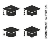 graduation cap vector icons set.... | Shutterstock .eps vector #526905721
