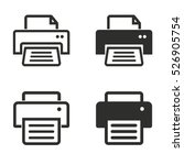 printer vector icons set.... | Shutterstock .eps vector #526905754