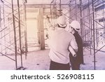 construction worker on... | Shutterstock . vector #526908115