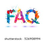 faq. splash pain sign | Shutterstock .eps vector #526908994