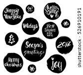 hand drawn holiday lettering in ...   Shutterstock .eps vector #526910191
