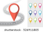 set of pin pointers flat icons... | Shutterstock .eps vector #526911805