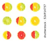 set of citrus fruits from... | Shutterstock . vector #526914757