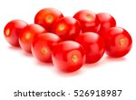 fresh cherry tomato isolated on ... | Shutterstock . vector #526918987