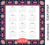 calendar for 2018 year with... | Shutterstock .eps vector #526919569