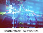 charts of financial instruments ... | Shutterstock . vector #526920721