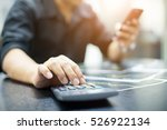 young businessman using a phone ... | Shutterstock . vector #526922134