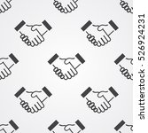 handshake icon vector... | Shutterstock .eps vector #526924231