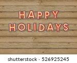 vintage happy holidays...   Shutterstock .eps vector #526925245