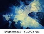 fintech  financial technology... | Shutterstock . vector #526925701