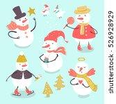 vector doodle illustration of... | Shutterstock .eps vector #526928929