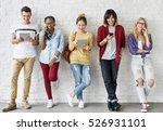 diversity friends using digital ... | Shutterstock . vector #526931101