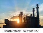 oil refinery plant at sunrise... | Shutterstock . vector #526935727