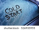 cold start message written on... | Shutterstock . vector #526935955