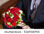 bridal bouquet from red and... | Shutterstock . vector #526936954