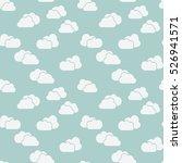 clouds seamless background. ... | Shutterstock . vector #526941571
