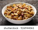 bowl of koorka mezukkupurati...   Shutterstock . vector #526944061