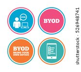 byod icons. human with notebook ... | Shutterstock .eps vector #526948741