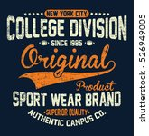 new york city college division  ... | Shutterstock .eps vector #526949005