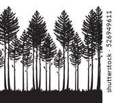 vector pine forest landscape.... | Shutterstock .eps vector #526949611