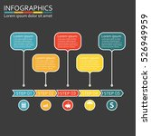infographics template with 5... | Shutterstock . vector #526949959