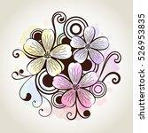 flower watercolor design... | Shutterstock .eps vector #526953835