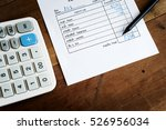 utility bill with calculator... | Shutterstock . vector #526956034