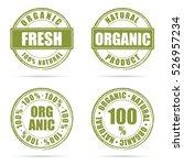 grunge rubber fresh and organic ... | Shutterstock .eps vector #526957234