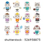 different cats illustration ... | Shutterstock .eps vector #526958875