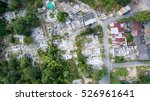 aerial view of old destroyed... | Shutterstock . vector #526961641