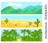 mountains  tropical jungle ... | Shutterstock .eps vector #526966501