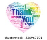 thank you love heart word cloud ... | Shutterstock .eps vector #526967101