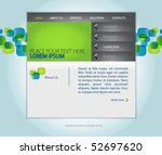web design vector template with ... | Shutterstock .eps vector #52697620