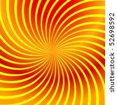Twirl Yellow Abstract